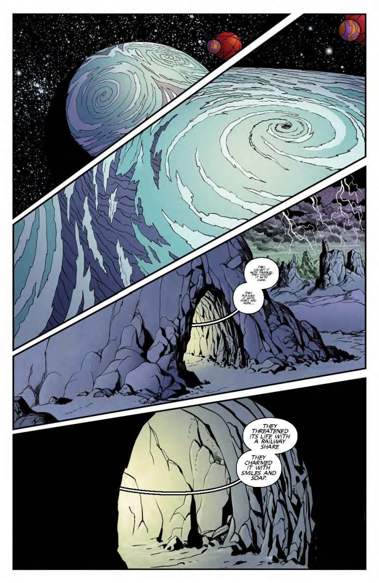 lost in space comic page 1