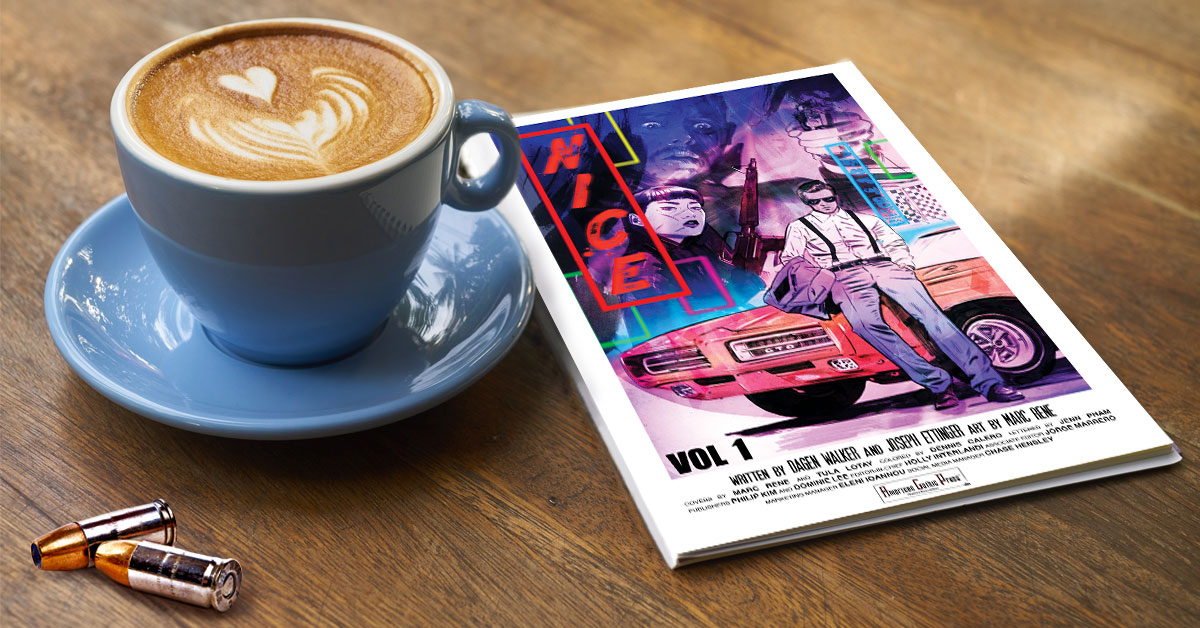 The perfect wake-up call is some bullet coffee and a NICE trade paperback.